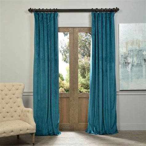 108 teal curtains outdoor