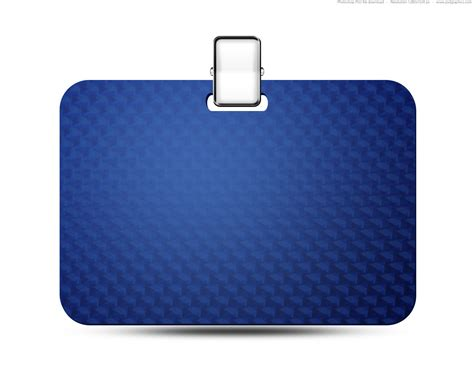 Work Badges Template name tag icon blue identification card psd psdgraphics