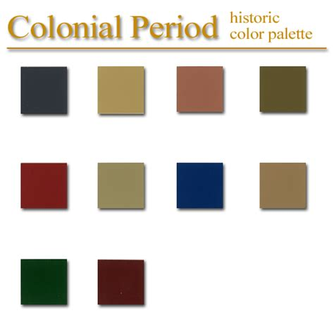 colonial colors historic colors for homes images historic color palette