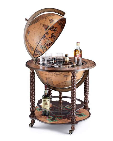 spiral leg bar globe with large drinks cabinet quot bacco
