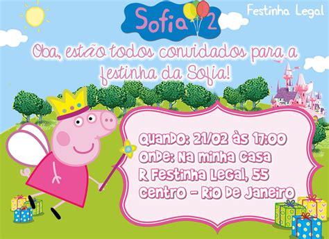 Modelo De Convite Para Festa Photoshop E Arte Convites Convite Peppa Pig Princesa Arte Festinha