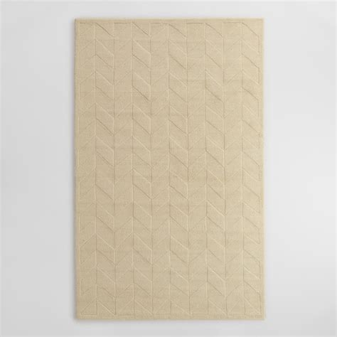 carved wool rugs ivory chevron carved wool bennet area rug world market