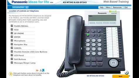button overview of your panasonic kx nt343 kx dt343 voip