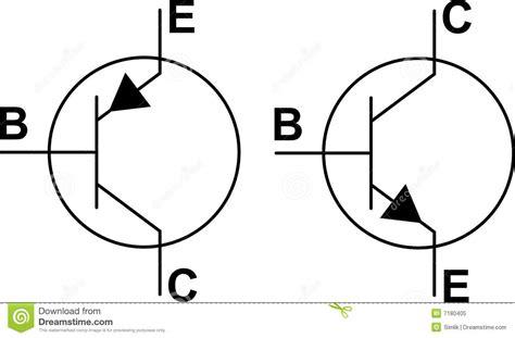pnp resistor symbol transistor npn pnp symbols stock vector image of resistors 7180405