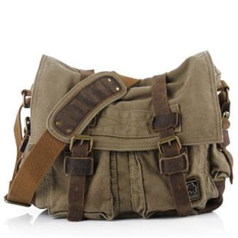 Fossil Bag Kendal Mix Kanvas Small vintage leather and canvas messenger bags mens from