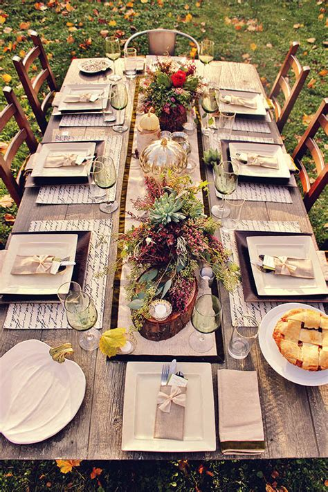 rustic thanksgiving table settings 10 thanksgiving table settings tinyme