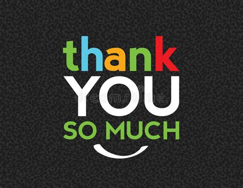 thank you so much message stock vector illustration of