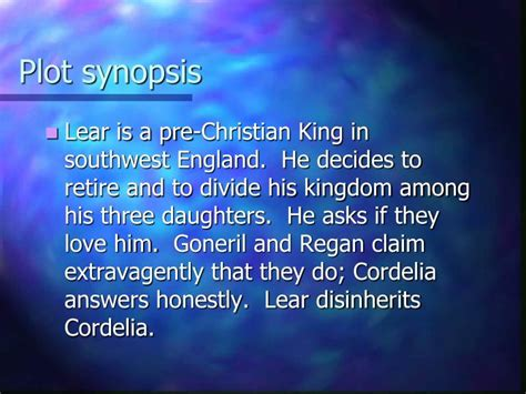 king lear themes powerpoint ppt king lear powerpoint presentation id 1907475