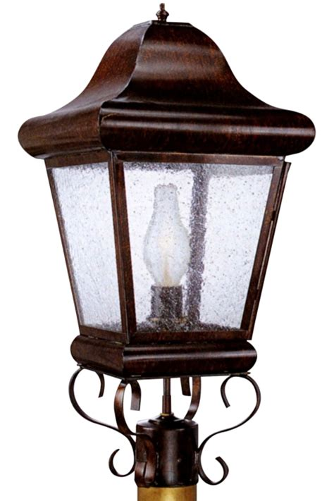 Handmade Outdoor Lighting - belmont post light handmade outdoor electric copper lantern