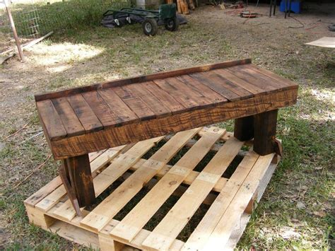 building a bench out of pallets pallet benches and dining table set 99 pallets