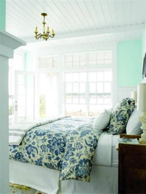 coastal decorating natural light mint green white bead board ceilinginterior design bedroom southern living
