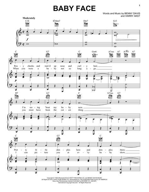 free music for babies baby face sheet music direct