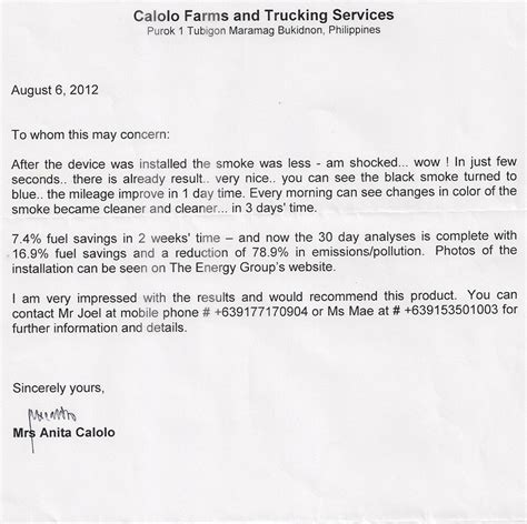 Recommendation Letter For Drivers Reference Letter For Trucking Company