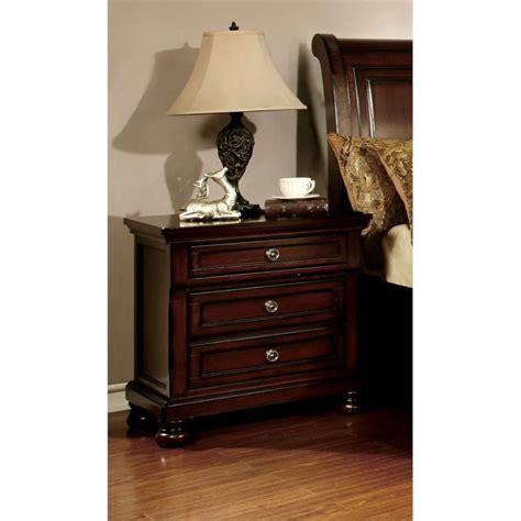 3 drawer nightstand cherry furniture of america caiden 3 drawer nightstand in cherry