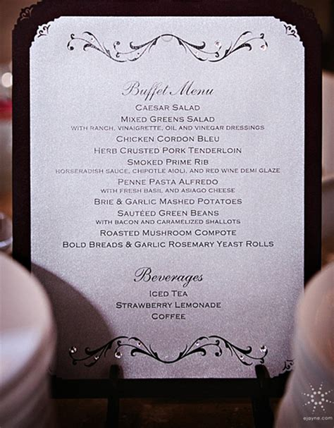 custom menu template november 2012 wedding invitations and the hill