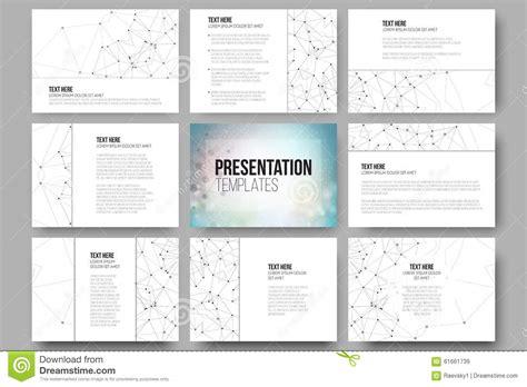 Set Of 9 Templates For set of 9 templates for presentation slides stock vector