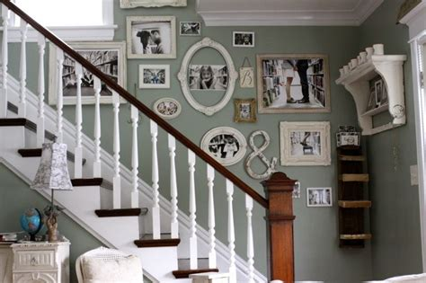 Up The Stairs Wall Decor by Creating A Family Picture Wall Step 1 The Placement