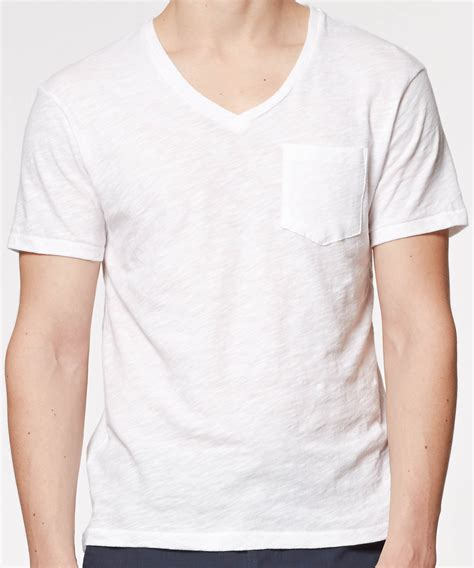 Pocket V Neck Shirt Only White todd snyder pocket v neck t shirt in white in white for lyst