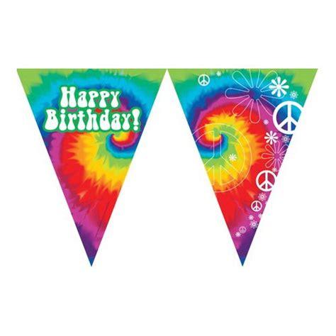 tie dye quot happy birthday quot banner