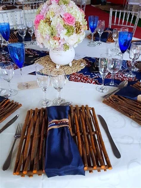 traditional blue gold wedding decor by shonga events shongaevents in 2019