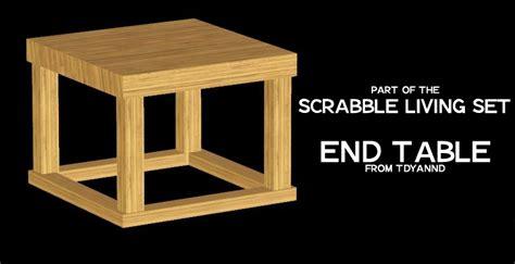 when does scrabble end tdyannd s scrabble living set end table