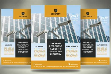 9 Safety Flyers Free Psd Eps Ai Format Download Free Premium Templates Security Company Flyer Template