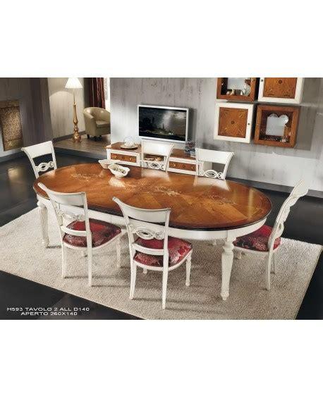 tavolo rotondo allungabile legno tavolo rotondo allungabile bicolore legno massello estea