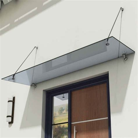 glass door awning durovin 13mm safety glass canopy balcony porch awning door
