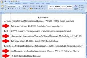 arcturusoors writing reference page in apa format