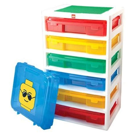 lego three drawer organizer shopping for bricks 6 level workstation and storage unit