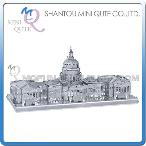 Mini 3d Metal Puzzle Ancient Architecture 5pcs lot mini qute 3d metal puzzle united states capitol world architecture building model