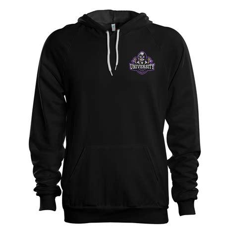 Hoodie Sweater Gamer Controller Black Front Logo gaming emblem hoodie aporia customs