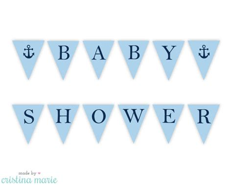 Printable Baby Shower Banners by 9 Best Images Of Free Printable Banner Nautical Baby