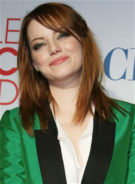 emma stone glee the people s choice awards best hair looks