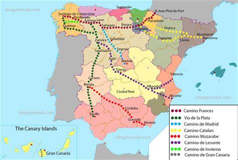 Camino De Santiago Length by Many Routes Of The Camino De Santiago Choose The Right