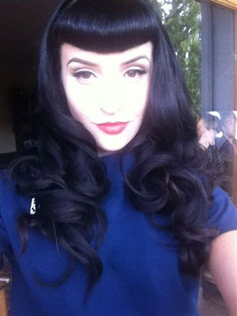 hairstyles to pin up bangs 65 best bettie bangs images on pinterest betty bangs