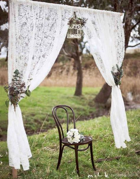 Wedding Arch Photo Booth by 50 Beautiful Rustic Wedding Decorations