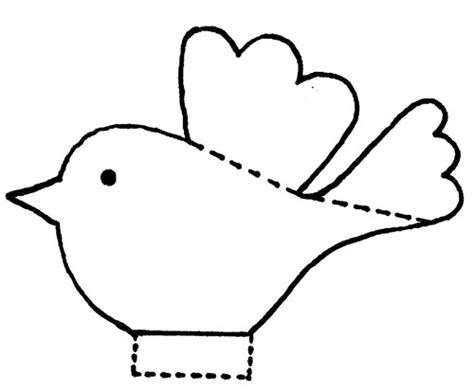 Paper Bird Craft Template - easy paper bird template could make birds and