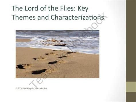 themes of lord of d flies lord of the flies themes and characters powerpoint from