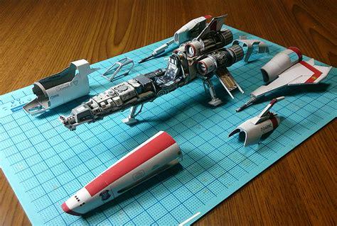 Battlestar Galactica Papercraft - uhu02 battlestar galactica viper mk 2 it s here