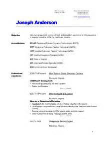 Registered Respiratory Therapist Sle Resume by Joes Resume