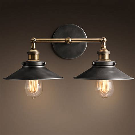 Wall Lights Modern Vintage Industrial Loft Metal Rustic Sconce
