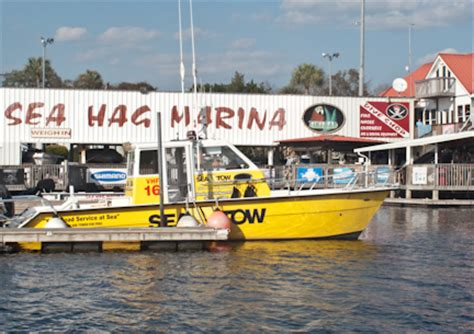 tow boat florida sea tow service now on station at steinhatchee florida