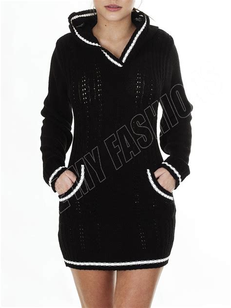 Sxsl5t Dress Size Ssize M Size L Dress Pestasimple Dress Onsale new womens cable knitted hooded jumper dress