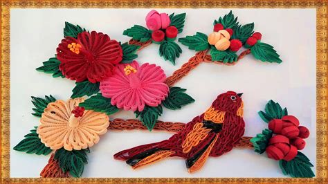 paper quilling wall frames tutorial paper quilling how to make beautiful bird 3d mandaram