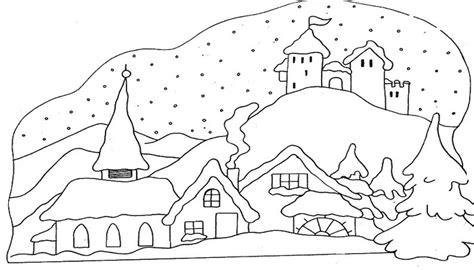 imagenes de invierno para niños para colorear dibujos de paisajes para imprimir imagenes de paisajes