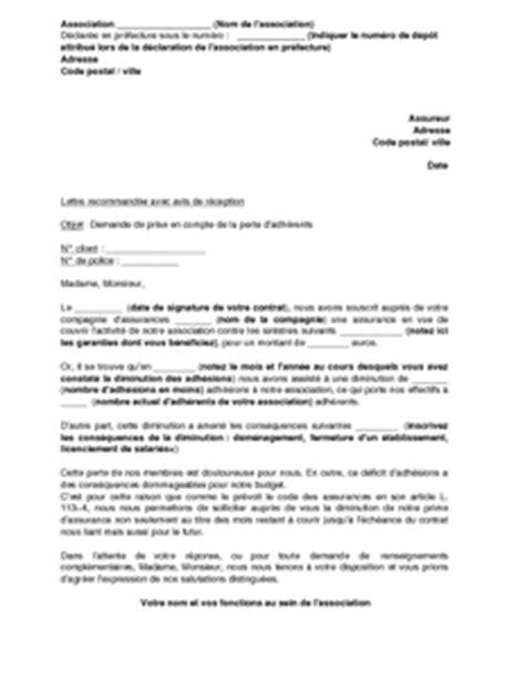 Exemple De Lettre De Demande D Adhésion Lettre De Demande De Diminution De L Assurance D Une Association Suite 224 Une Baisse Des