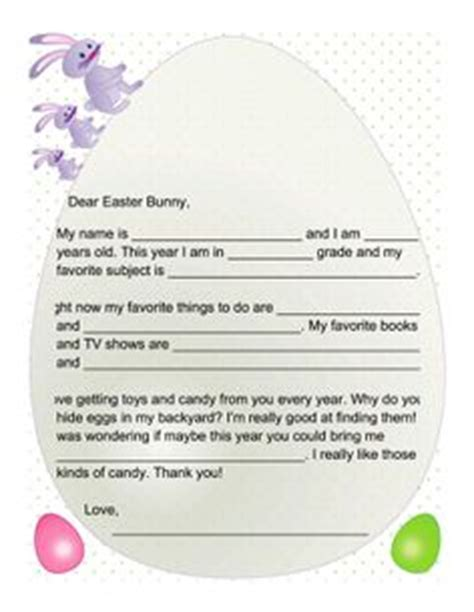 letter to the easter bunny template letter to the easter bunny let write a letter to the