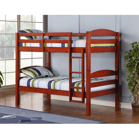 Walker Edison Bunk Bed Walker Edison Wooden Bunk Beds Cherry Bwstotch
