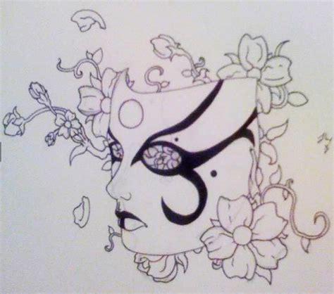 kabuki tattoo designs kabuki design by charleshtruman on deviantart